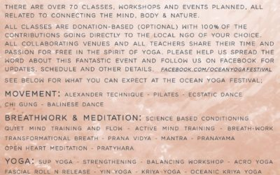 coming soon… Ocean Yoga Festival with schedule and info